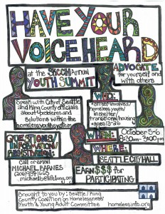 2015 Youth Advocacy Summit Flyer