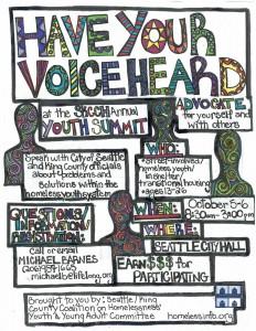 2015 Youth Advocacy Summit Flyer