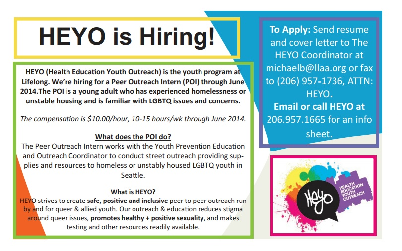HEYO Peer Outreach Intern Flyer