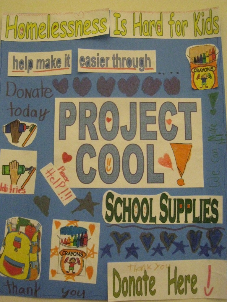 Project Cool Donate Here poster