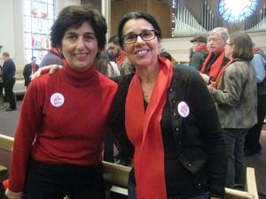 SKCCH Board member Niki Amarantides and member Maya Opavska at Advocacy Day.