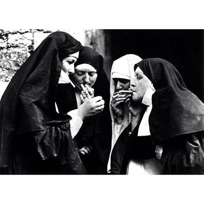 Smoking nuns.